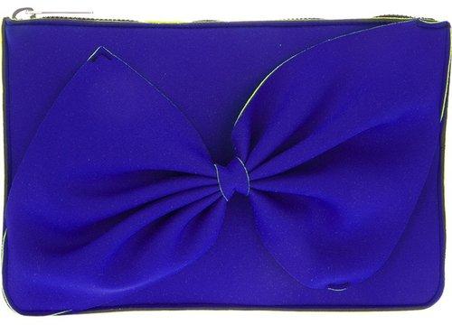 Leghilá bi-colour bow clutch