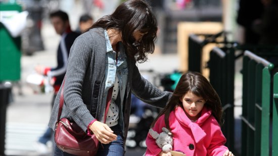 Video: Katie Holmes Takes Suri on a New York City Spa Day!