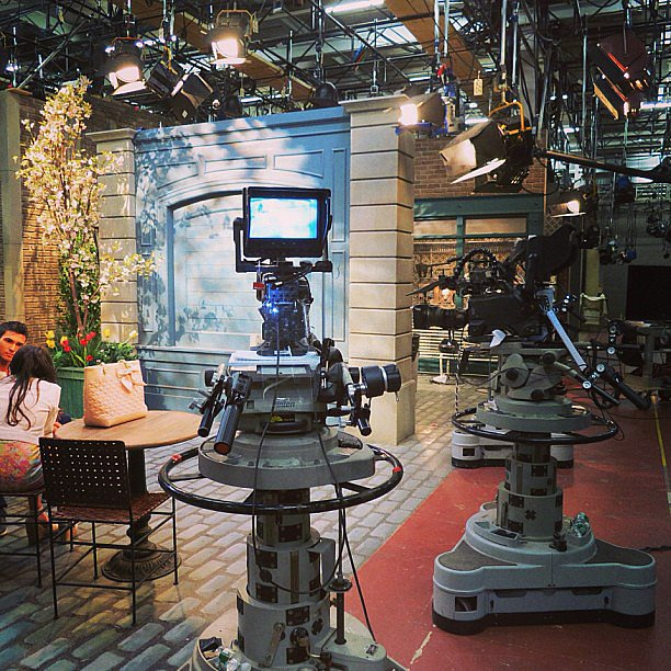 We got a unique look at the set of All My Children. Source: Instagram user hulu