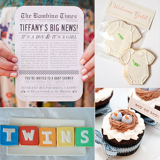 Baby shower food ideas baby shower food ideas for twins for Baby shower decoration twins
