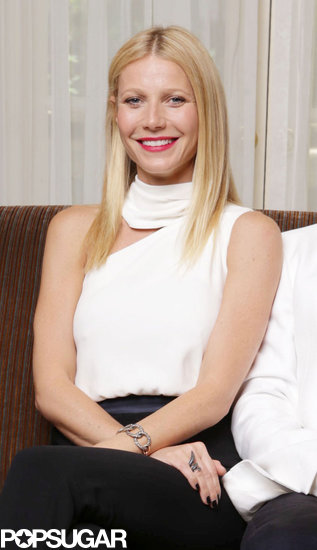 Gwyneth Paltrow wore a white top.