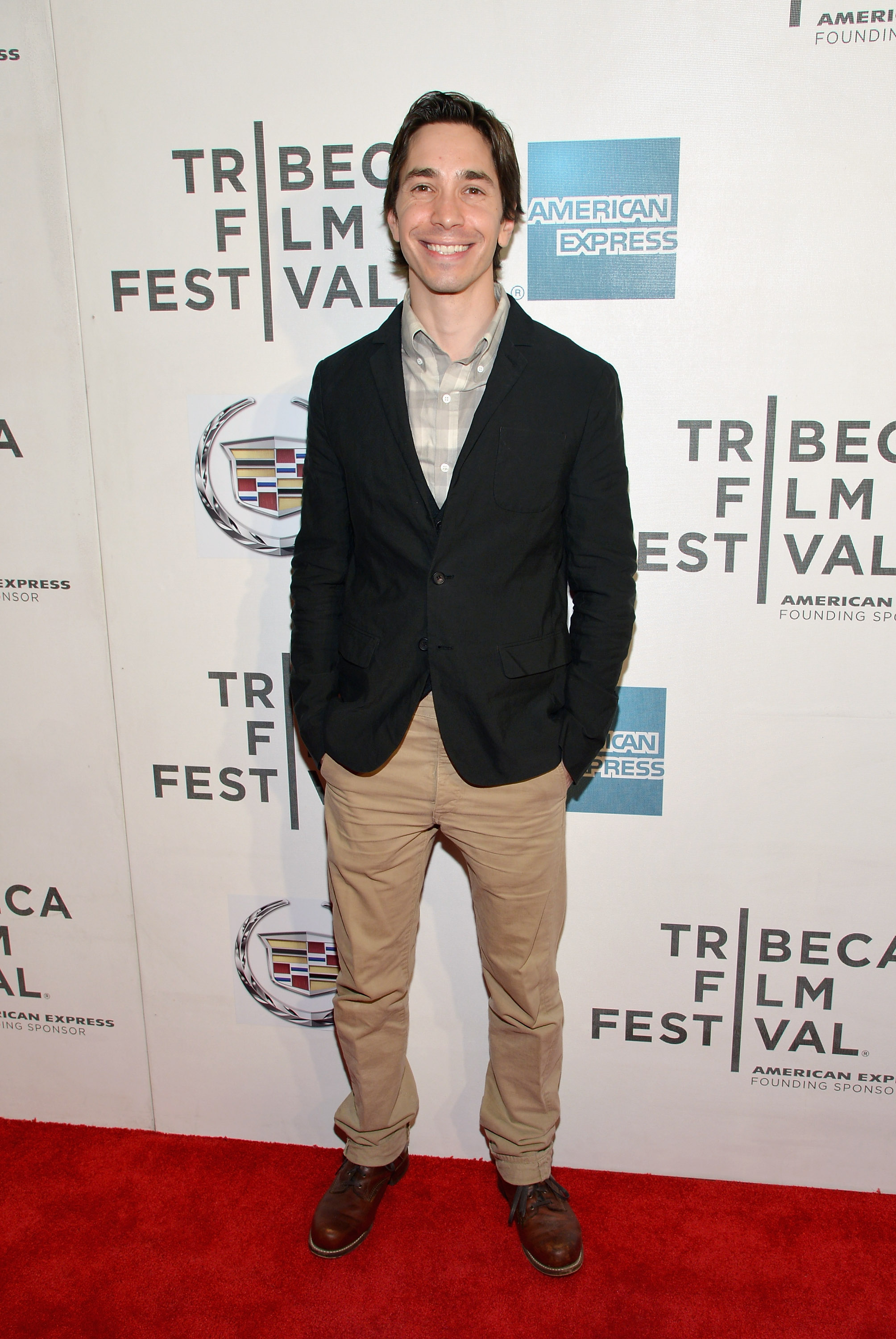 Justin Long had a big smile on his face for the premi