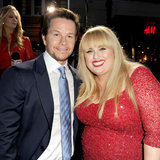 Mark Wahlberg and Rebel Wilson at LA Pain and Gain Premiere