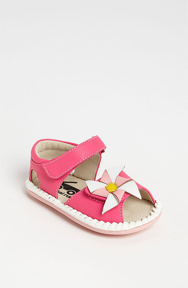 What screams Spring more than a pastel pinwheel? See Kai Run's Alanna sandals ($46) are ready for the new season — and sure to stay on little feet — thanks to a sturdy velcro strap.
