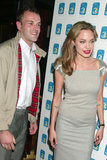 Angelina Jolie married her first husband, British actor Jonny Lee Miller, in March 1996 but ended the union in February 1999.