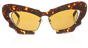 Linda Farrow Projects The Prabal Gurung x Linda Farrow Butterfly Sunglasses in Dark Tortoiseshell