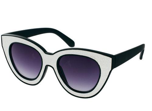 Quay Black & White Square Sunglasses