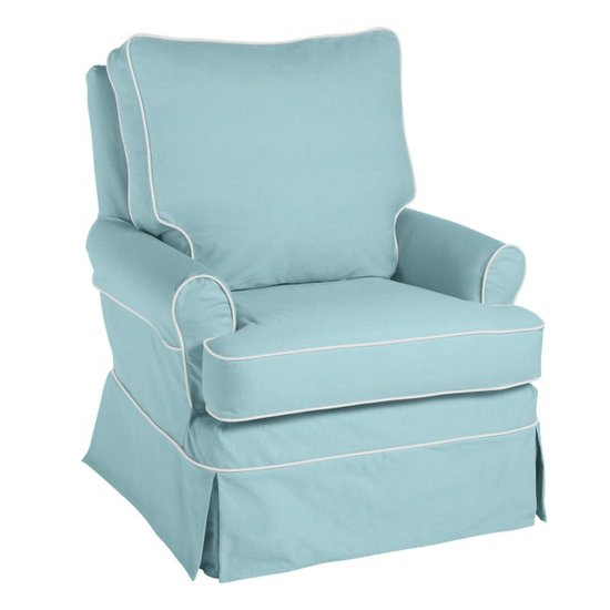 Bring Southern charm to your space with Serena & Lily's upholstered armchair ($1,095), which features contrast piping.