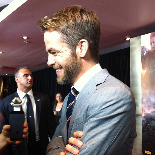 We chatted with Chris Pine at the Australian premiere of Star Trek Into Darkness. Source: Instagram user popsugarauceleb