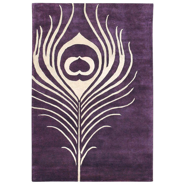 No feather in your hat? How about on your floor? This plum feather rug ($351) by Thomas Paul features a graphic take on the feather.