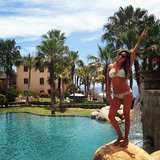 Ashley Tisdale showed off her bikini body while vacationing in Mexico. Source: Instagram user ashleytis