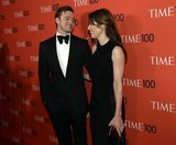 Justin Timberlake gave his wife, Jessica Biel, an adoring glance as they made their way into the Time 100 gala in NYC.