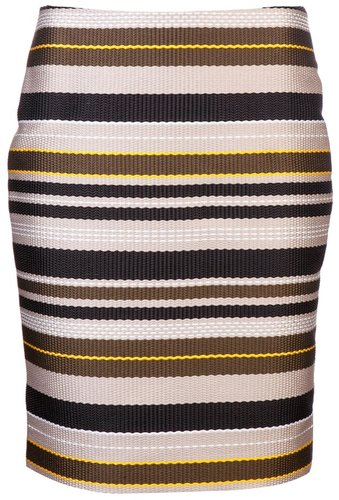 Jenni Kayne Multi stripe pencil skirt