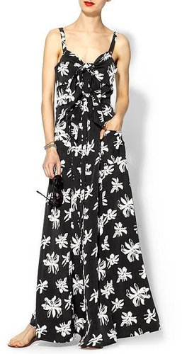 Viva Vena Tie Front Maxi Dress