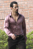 Milo Ventimiglia slicked back his hair on Monday in New Orleans to shoot scenes for Heat.