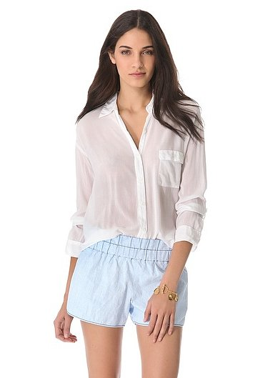 We love the sheer, laid-back quality of this Splendid button-down shirt ($86, originally $108). Pair it with jeans or a leather skirt for a more dressy feel.