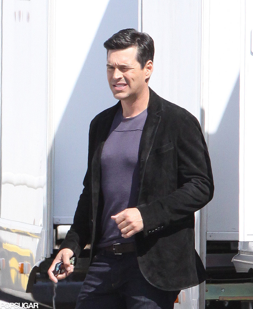 Eddie Cibrian shot scenes for The Best Man Holiday in Toronto on Monday.