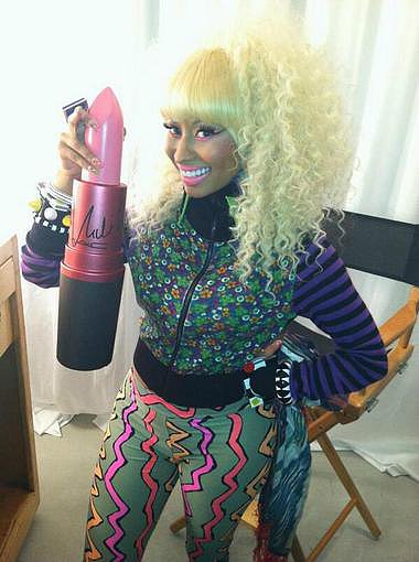 Nicki Minaj celebrated her MAC Viva Glam lipstick being a number one bestseller. Source: Twitter user NICKIMINAJ