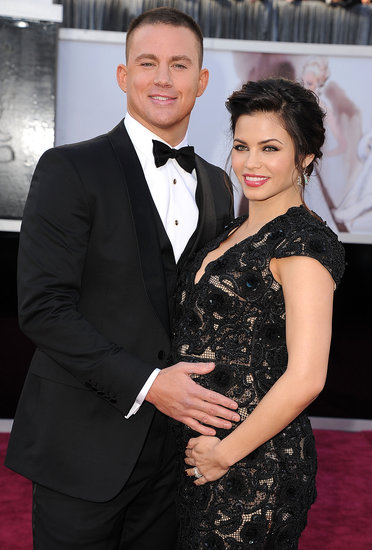 Channing Tatum posed with his pregnant wife Jenna Dewan at the 2013 Oscars.