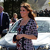 Kate Middleton Baby Bump Pictures at School Visit