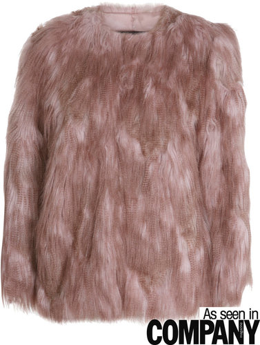 Pink rock and roll fur coat
