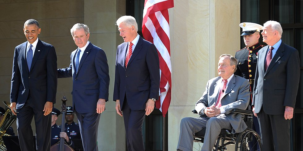 Video: Presidents and First Ladies Unite For George W. Bush!