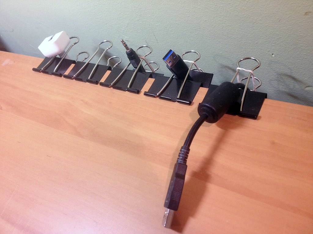 Use Clips to Organize Your Wires