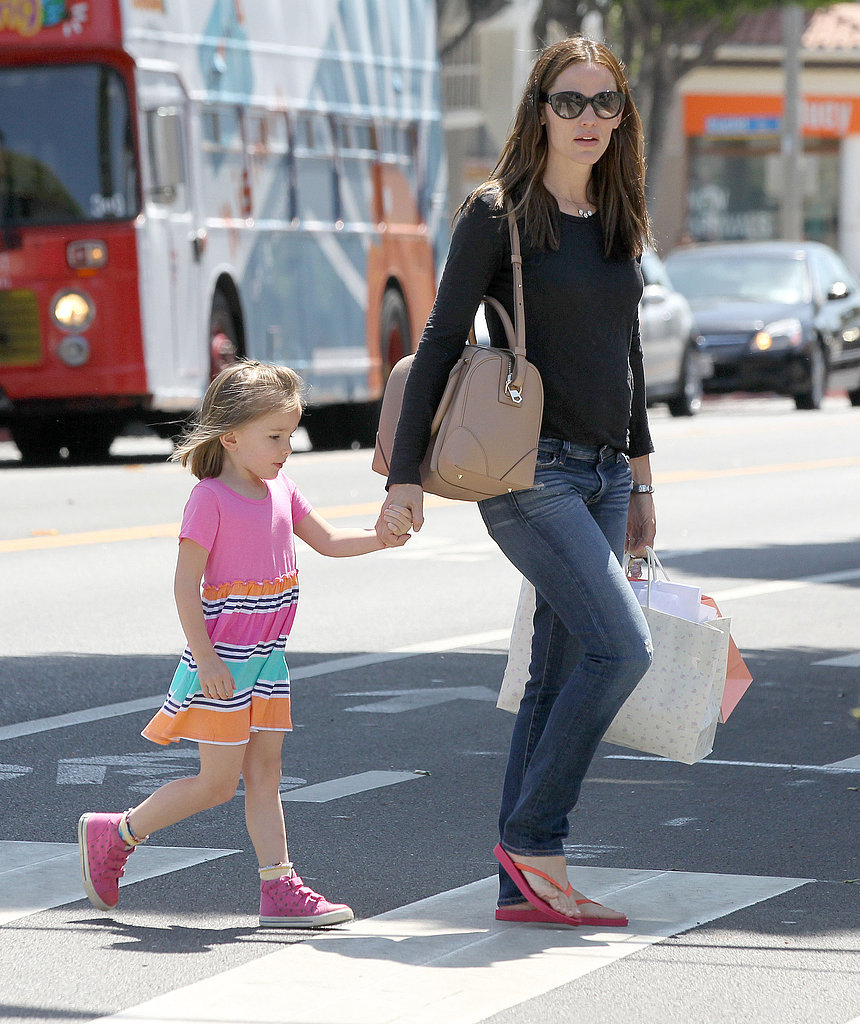 Jennifer Garner and Seraphina Affleck crossed the street in LA.