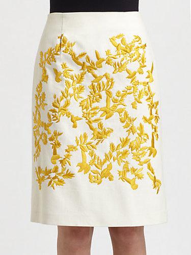 Thakoon Embroidered Skirt