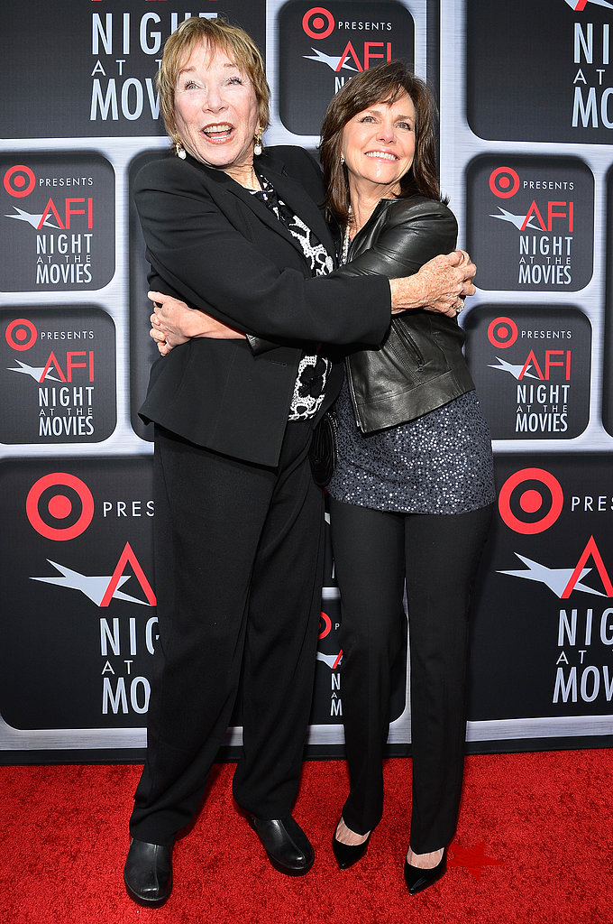 Shirley MacLaine and Sally Field shared a hug on the red carpet.
