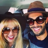 Rachel Zoe and Joey Maalouf wore matching fedoras and sunglasses during a road trip. Source: Instagram user rachelzoe