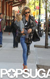 "Kate Hudson Carries Her ""Fireball"" Bingham Through the Big Apple"