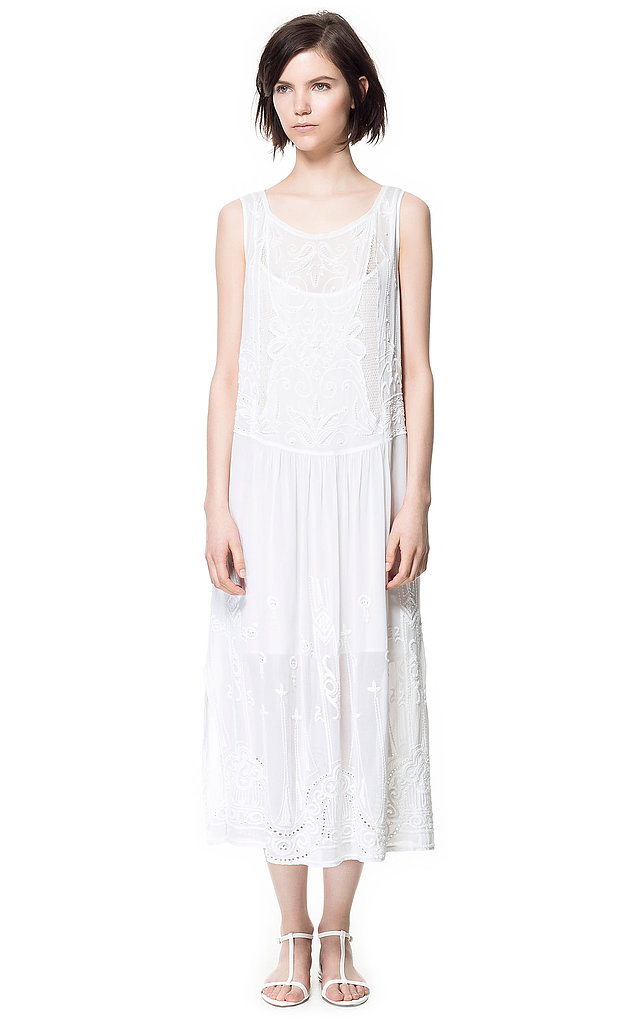 Zara's Embroidered Dress With Lace (£89.99) is the kind of piece we could see Daisy wearing around the house — and the kind of thing we'd wear all Summer with a pair of brogues to give it a cool tomboy contrast.