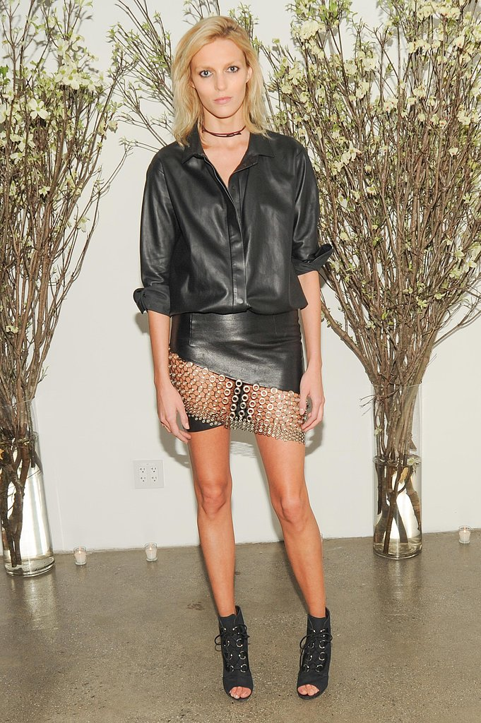 Anja Rubik at the Natural Beauty book launch in New York. Source: Neil Rasmus/BFAnyc.com