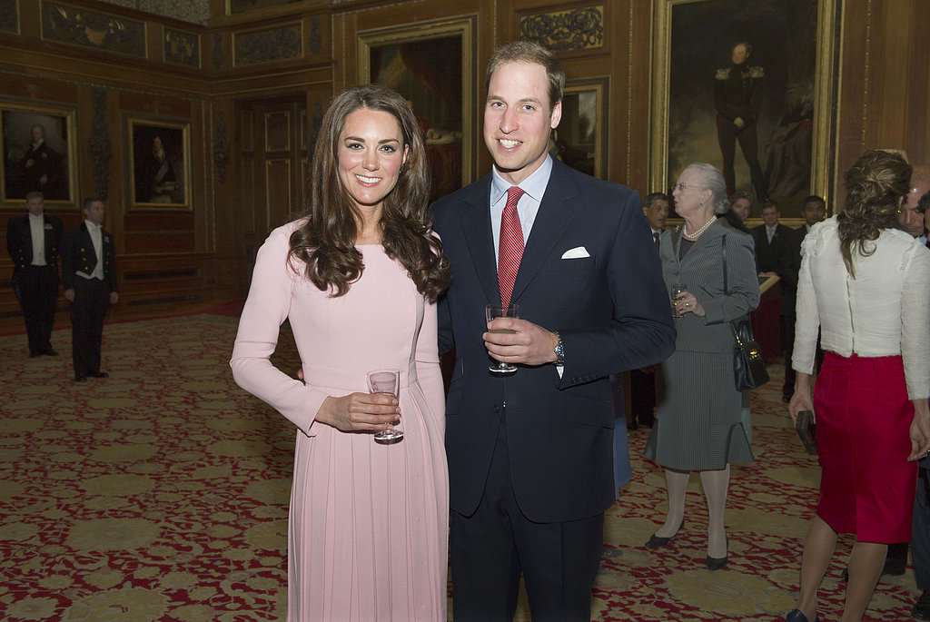 Kate Middleton and Prince William posed during a May 2012 reception at Windsor Castle.