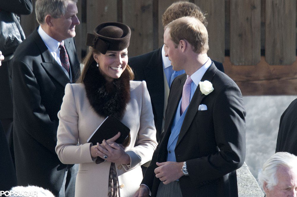 Prince William and Kate Middleton visited the Swiss Alps to attend a friend's wedding in March.