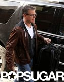 Matt Damon arrived in Cambridge, MA, on Thursday.