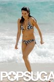 Penélope Cruz sported a floral-print bikini while on vacation in St. Barts in December 2006.