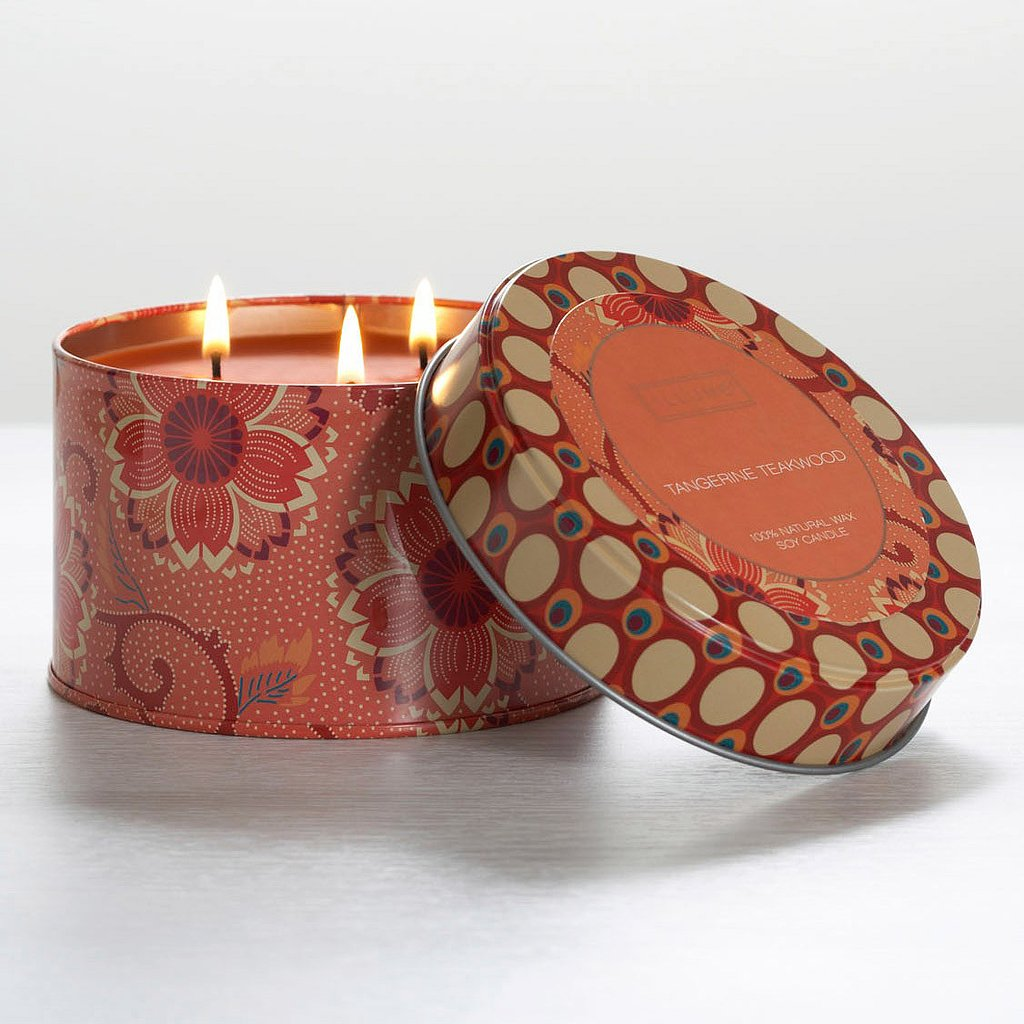 Pretty packaging and a fresh citrus fragrance make this retro tangerine teakwood candle ($17, originally $22), a great scented pick for Summer.