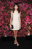 Alexa Chung did her thing for the media at the Chanel Tribeca Film Festival Artists Dinner in New York on April 24.