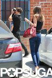 Orlando Bloom and Miranda Kerr took Flynn out in LA.
