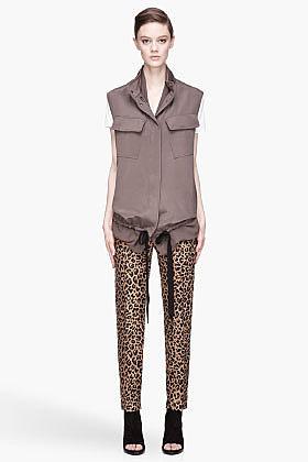 3.1 PHILLIP LIM Dark grey Double Layer silk Utility Vest