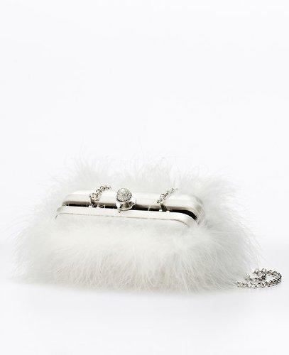 Marabou Feather Clutch
