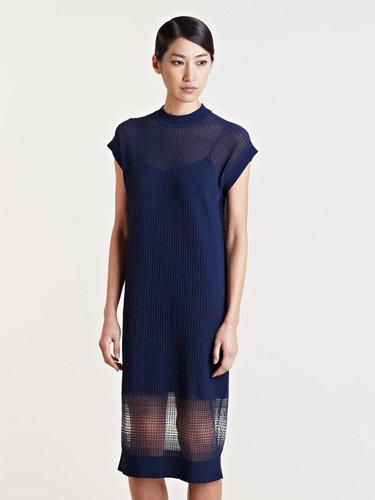 mento Women's Sheer Degrade Dress