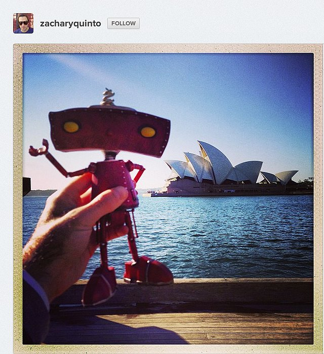 Actor Zachary Quinto takes the Bad Robot down under to promote Star Trek Into Darkness!