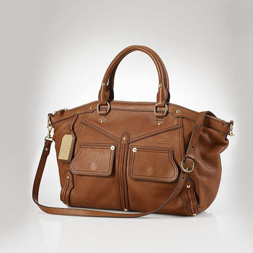 Ralph Lauren Clearwater Leather Satchel