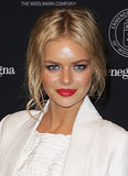 Samara Weaving's sexy bed hair and cherry lips