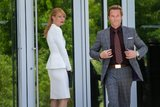 Gwyneth Paltrow and Guy Pearce in Iron Man 3.