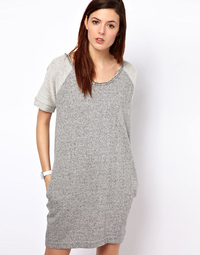 BZR Cotton Melange Sweater Dress