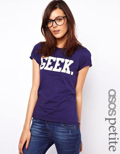 ASOS PETITE Exclusive Geek T-Shirt